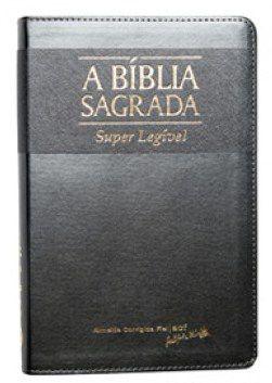 Bíblia Letra Gigante Super Legível Prata / Chumbo Indice