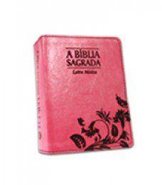 Bíblia Letra Média Arabesco Rosa