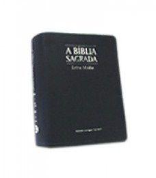 Bíblia Letra Média Zíper Azul