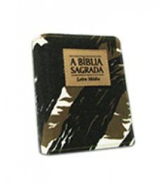 Bíblia Letra Média Zíper Camuflada