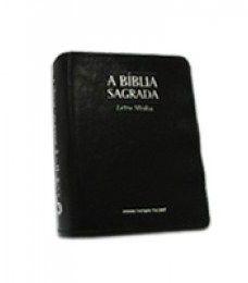 Bíblia Letra Média Ziper Preta