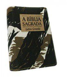 Bíblia Média Letra Grande Camuflada Zíper