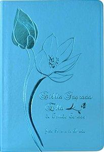 Bíblia Sagrada Ella de Estudo Conciso - Capa Luxo Turquesa
