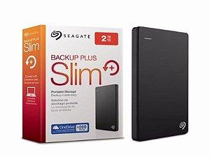 HD Externo Seagate Slim 2TB - Preto