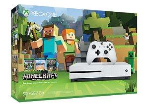 Console Xbox ONE S 500GB Edição Minecraft Bundle