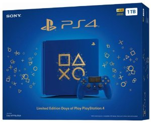 CONSOLE PLAYSTATION 4 SLIM 1TB - EDIÇÃO AZUL DAYS OF PLAY EDITION