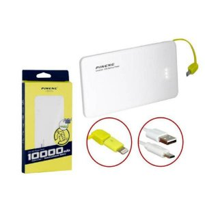 Carregador Portátil Power Bank Pineng 10000mah Original - Branco