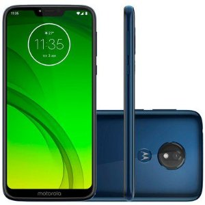 "Moto G7 Power - 64GB / 2Chip / Tela 6.2"" / 1.8 GHz Octa-Core / Câm 12MP / Azul Navy"