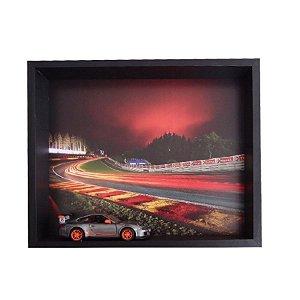 QUADRO 3D PORSCHE GT3 RS CINZA