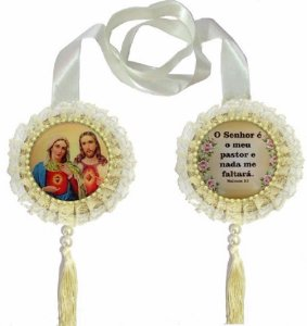 ESCAPULÁRIO DE PORTA JESUS E MARIA