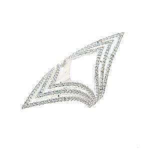 Anel Semijoia Victory Cravejado Zircônias Diamond Folheado Prata AN052
