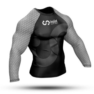 Rash Guard INSIST Branca Manga Longa
