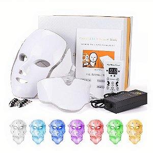 Máscara Fototerapia Led Face + Pescoço Led 7 Cores