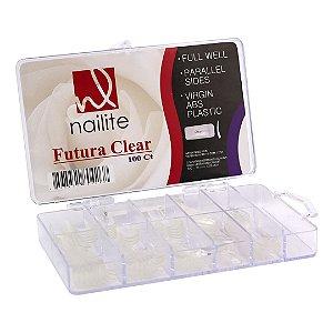 Tips Nailite Mix Tamanhos  - Cor Transparente - 100und