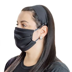 Kit Faixa de Cabelo com Máscara de Tecido