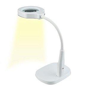 Luminária com Lupa e Fixação para Bancada