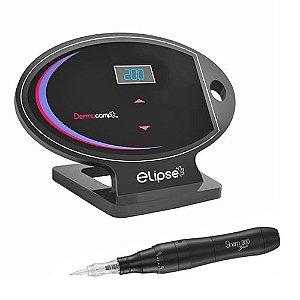 Dermógrafo Sharp 300 Black Dermocamp + Controle Digital Elipse Preto
