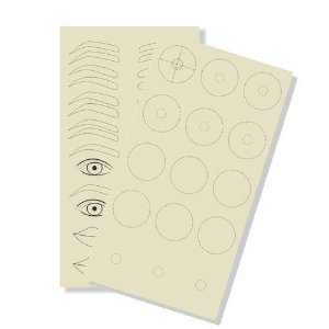 Pele Sintética 30cm Treino Sobrancelhas, Olhos, Boca e Seios