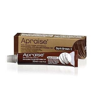 Tintura Apraise Dark Brown 3 Sobrancelhas, Cílios e Barba 20 ml