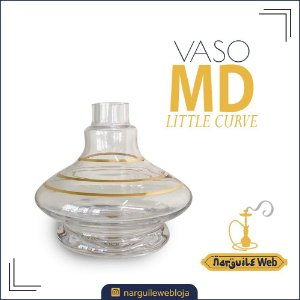 VASO MD LITTLE CURVE FILETE GOLD TRANSPARENTE