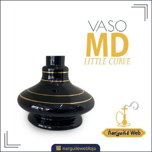 VASO MD LITTLE CURVE FILETE GOLD PRETO