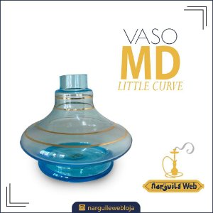 VASO MD LITTLE CURVE FILETE AZUL