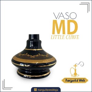VASO MD LITTLE CURVE RENDA PRETO