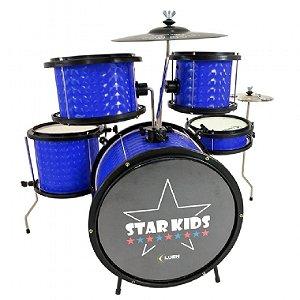 Bateria Acústica Infantil Luen Star Kids 44000AZ