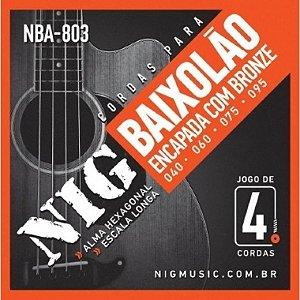 Encordoamento Contrabaixo 4 Cordas .040 NIG NBA-803