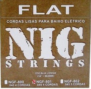 Encordoamento Contrabaixo 4 Cordas .045 NIG NBF-801
