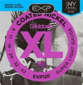 Encordoamento Guitarra .009 D'Addario Super Light EXL120 Coat