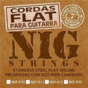 Encordoamento Guitarra .010 Flat NIG NBF-810