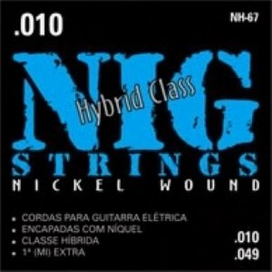 Encordoamento Guitarra .010 NIG Híbrida NH-67