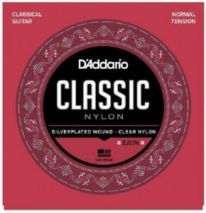 Encordoamento Violão Nylon D'Addario Tensão Normal EJ27N