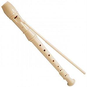 Flauta Doce Germânica Concert TRC57G Bege