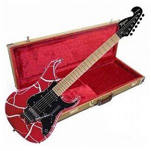 Guitarra Tagima JA2 Juninho Afram Craquelada Red com Case
