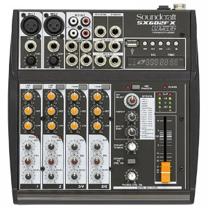 Mesa 06 Canais Soundcraft SX602FX USB