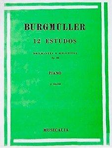 Método 12 Estudos Brilhantes e Melódicos Burgmüller - Vol 3