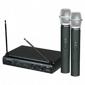 Microfone sem Fio de Mão Duplo Karsect KRU 302