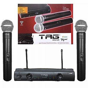 Microfone sem Fio de Mão Duplo Tagima TM-559B