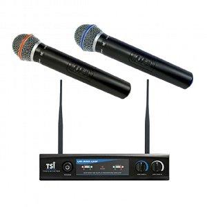 Microfone sem Fio de Mão Duplo TSI UD800