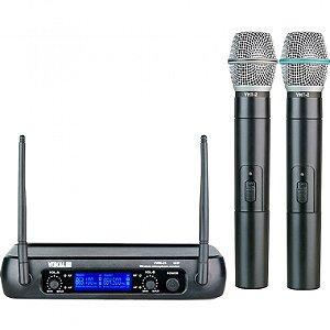 Microfone sem Fio de Mão Duplo Vokal VWR25MM