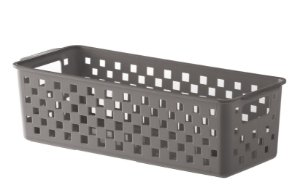 Cesto Organizador Quadratta 27x11x8cm Cinza