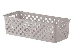 Cesto Organizador Quadratta 27x11x8cm - Bege