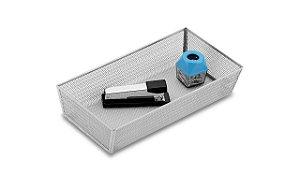Cesto Organizador Brinox 30 x 15 x 5 cm Cinza