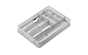 Cesto Organizador com Divisória 40 x 28 x 5,5 cm Cinza Brinox