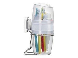 Porta Pasta de Dente e Escovas com Ventosa