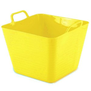Cesto Flexível Quadrado 22 Lts - Amarelo