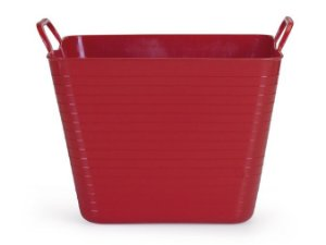 Cesto Flexível Quadrado 22 Lts - Vermelho