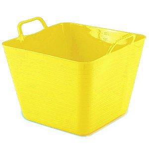 Cesto Flexível Quadrado 18 Lts - Amarelo